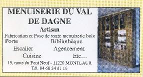 Menuiserie du Val de Dagne Montlaur