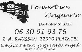 BREIZH COUVERTURE ZINGUERIE ROUXEL Plérin