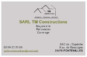 Sarl TM Constructions    Mr AFONSO Fontenilles