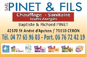 sarl pinet et fils Saint André d'Apchon
