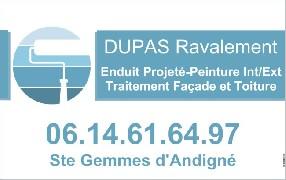 DUPAS Ravalement Sainte Gemmes d'Andigné