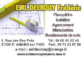 EIRL DECROUY Frédéric Saint Amand sur Fion