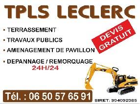 travaux publics, tpls leclerc Saint Nicolas d'Aliermont