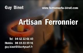 Guy Binot - Artisan Ferronnier Saint Zacharie