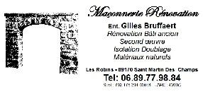 Entreprise Gilles Bruffaert Saint Martin des Champs