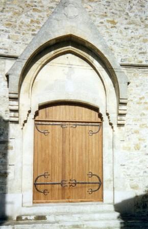 Porte d'église en bois exotique