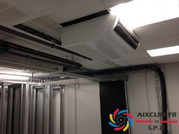 Installation d'une climatisation réversible en plafonnier à Aix les Milles
