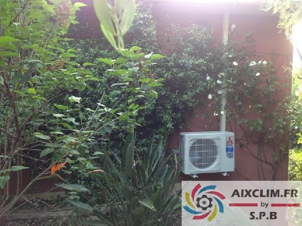 Installation climatisation Mitsubishi à Aix en Provence. SPB est installateur agréé Home Partenaire Mitsubishi Electric