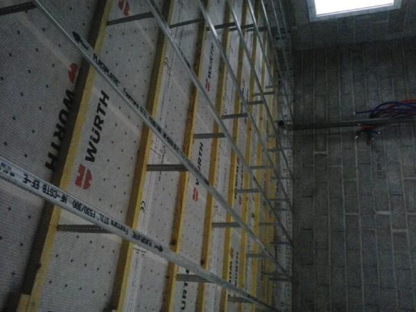 plafond avec membrane et contre liteaunage<br />