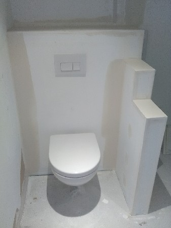habillage toilette suspendu
