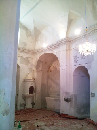 Travaux de rénovation d une église photo pendant la préparation des support
