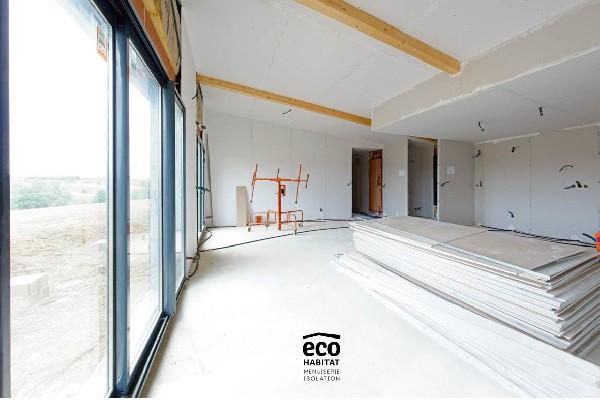 Rénovation intérieur d'une maison (isolation + Plâtrerie + Menuiseries)