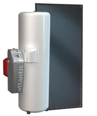 Chauffe-eau solaire <br /> Marque ATLANTIC<br /> Mod&egrave;le SOLERIO<br /> Capacit&eacute; 200l ou 300L<br />