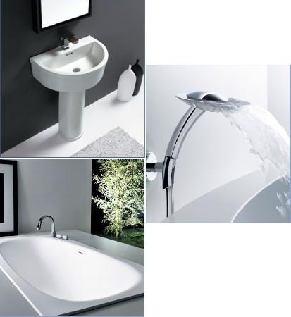 Installation sanitaire :<br /> douche, baignoire, lavabo etc.<br /> ..