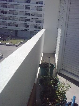 balcon avant aménagement