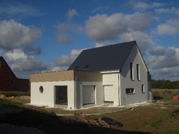 Maison bioclimatique CHATEAU GONTIER (53200)<br /> Consulter notre site : https://www.gommerel-habitat-passif.com