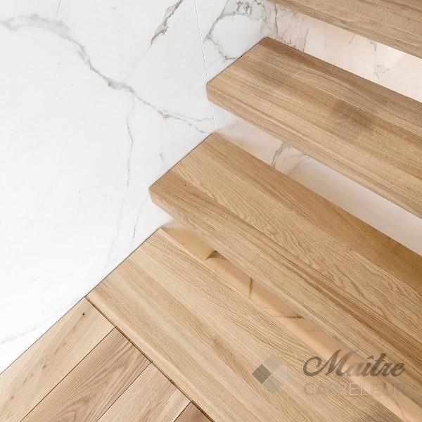 Pose carrelage au sol et au mur. Réalisation de tout type de revêtement sur escalier, crédence, mosaïque, parquet, etc.