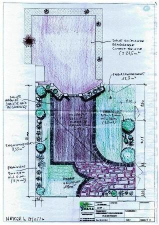 projet aménagement cour intérieure