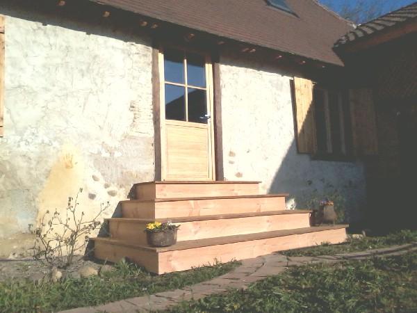 Escalier Pin Douglas et Thermowood