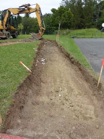 Travaux de terrassement pour l'aménagement d'un accès extérieur