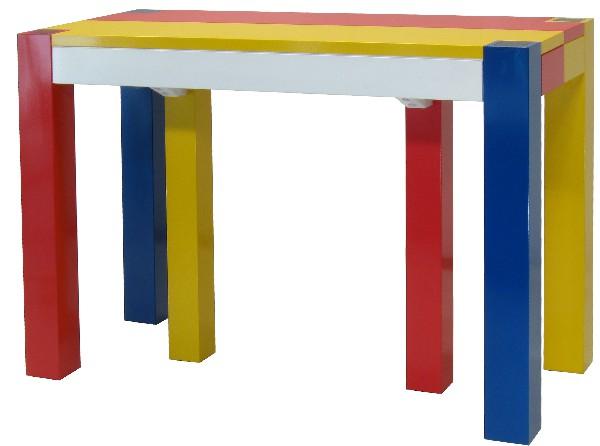 Table 2m*1.10m extensible de 1 à 6 rallonges pour 20 personnes en frêne olivier.