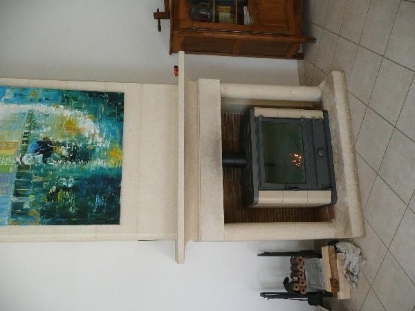 Fourniture et pose d'un poêle à bois OLIGER à Sainte Foy les Lyon