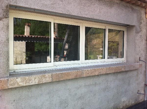 Fenêtre coulissante ALU à 4 vantaux