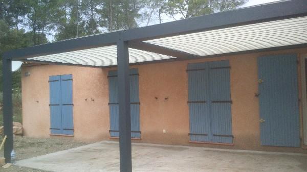 Pergola Bioclimatique avec 2 modules